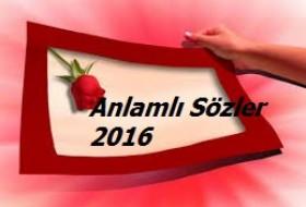 2016 ANLAMLI KAPAK SÖZLER